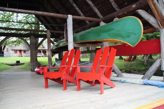 Great Camp Sagamore: Adirondack Chairs at the Boathouse