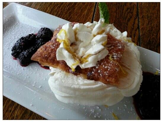 Panache: Napolean Marionberry Lemon Curd Pastry Dessert is A++  This is the 'mini'. Also comes in regular