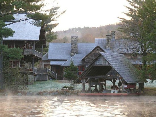 Great Camp Sagamore: View from across the lake
