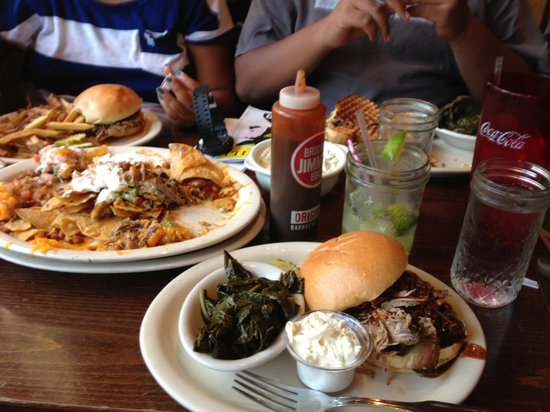 Brother Jimmy's BBQ: Decent pulled pork and really good collards