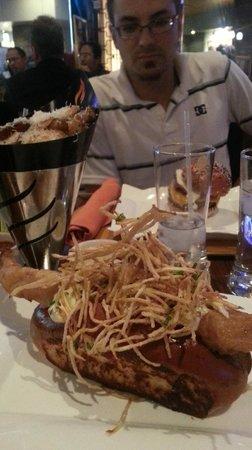 Fish sandwich and parmesan friens