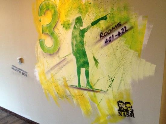 Altes Stahlwerk: graffiti on wall by Nash