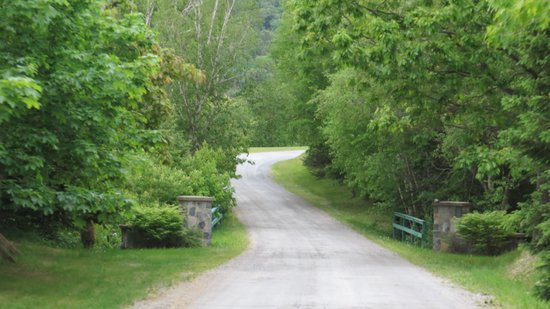 Strawberry Hill Resort: The drive going into Strawberry Hill