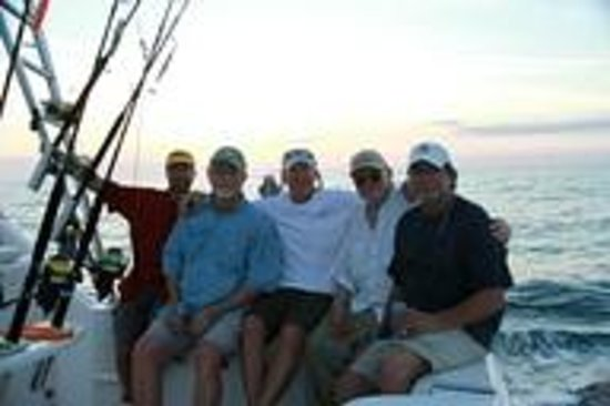 A great fishing party on the Drake Bay charter boat the Reel Escape