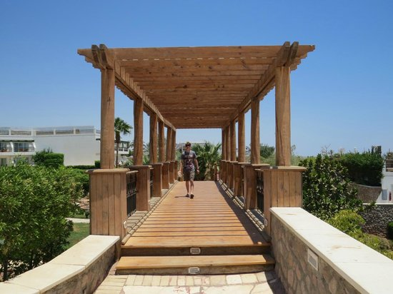 Hilton Sharm Waterfalls Resort : One of the many bridges to be navigated over!