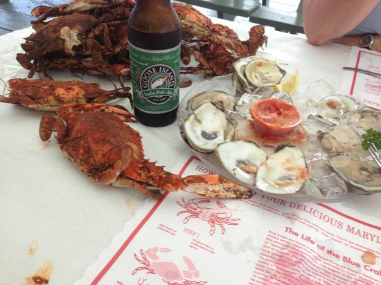 The Crab Claw: Crabs, oysters, and beer. Oh my!