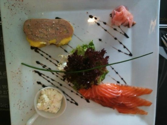 Restaurant l'Atelier de Nicolas : Duo terre et mer