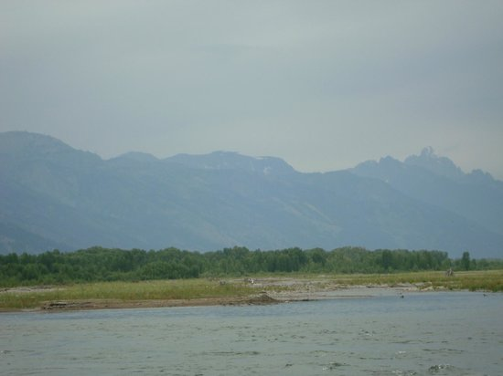 Mad River Boat Trips : View of Grand Tetons