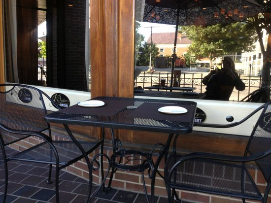 J Bistro: seating outside