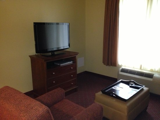 Homewood Suites by Hilton Champaign-Urbana : Living area