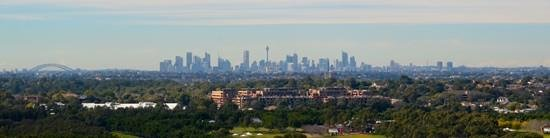 Pullman at Sydney Olympic Park: view from hotel of city