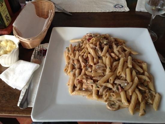 Pizzeria Daccapo: Fabuloso plato de penne di porci. Ración abundante y sabrosisima!