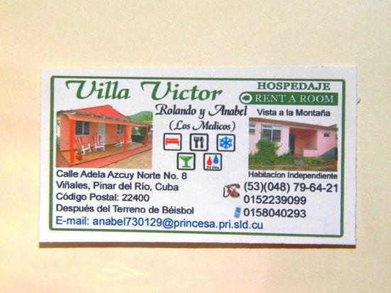 Villa Victor - Rolando y Anabel: Carte de la Casa de Rolando et Anabel