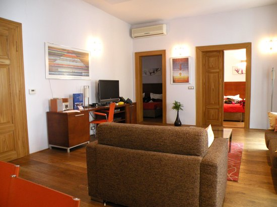 Residence Rybna - Prague City Apartments: Living room