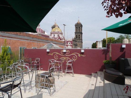 Hotel Puebla de Antano: Bar panoramique