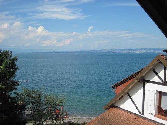 Hôtel de la plage : Blick aus dem Fenster unseres Zimmers (es war Nr.47)