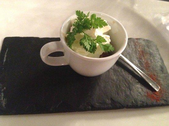 Hostellerie Chateau de la Barbiniere : Gambas sauce wok & Chantilly Citronée