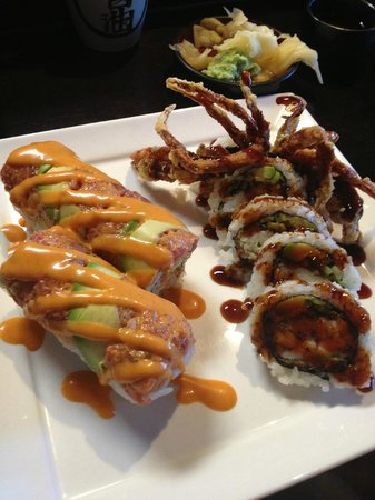 A-RU: Red Dragon Roll and Spider Roll
