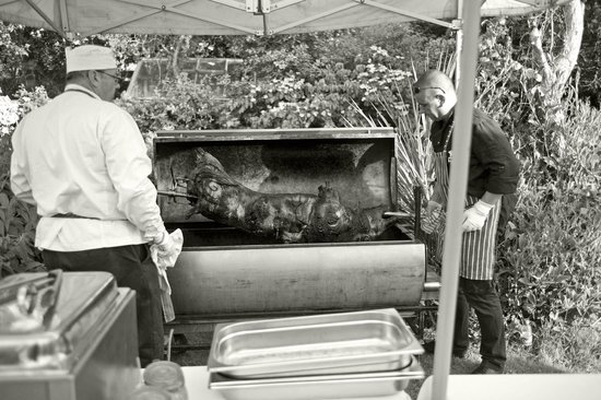 Beaufield Mews: Pig on a spit