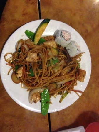 DW's Grill Mongolian BBQ: a plate full of everything