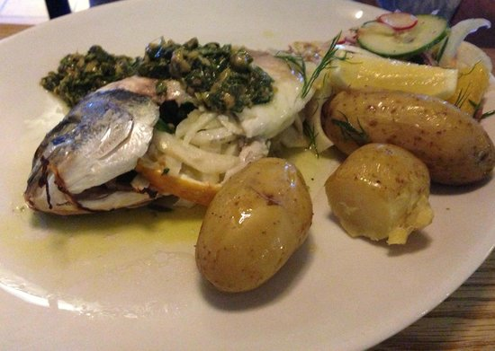 Life's a Beach: Salt Baked Bream with Sicilian Salad, Salsa Verde & Cornish New Potatoes