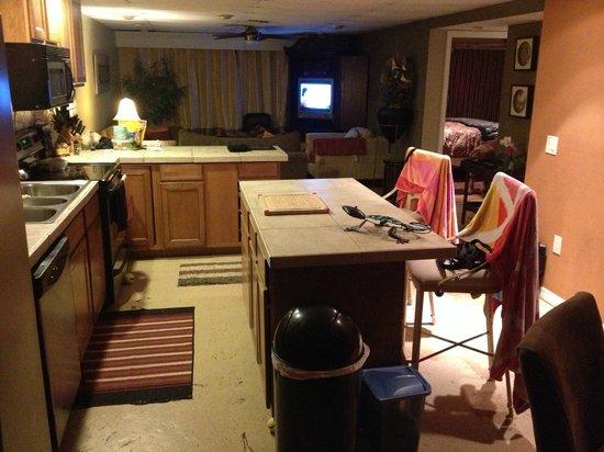 نامبر1 آيلاند هايداواي: kitchen and living room