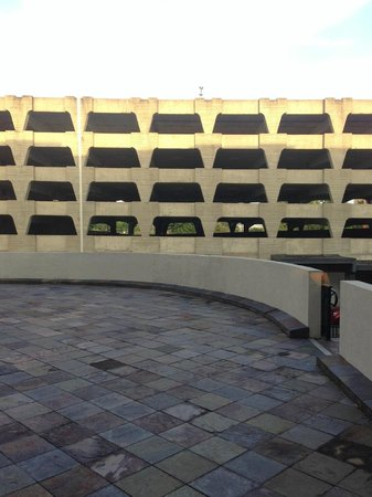 The Read House Historic Inn And Suites: Parking Garage.  View from our room.