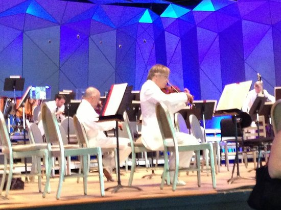 Tanglewood: The orchestra trickling in and warming up.