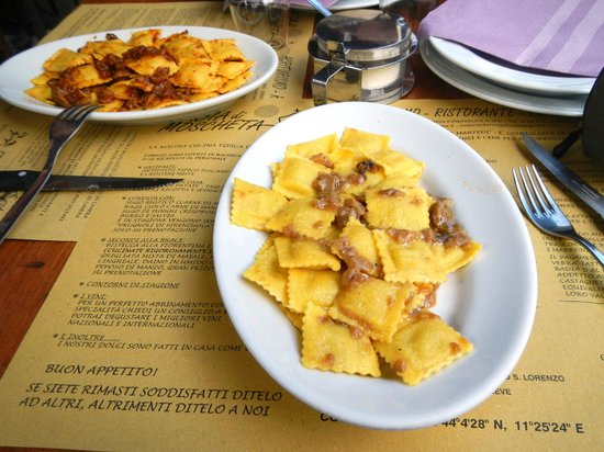 Badia di Moscheta: i due tortelli di patate