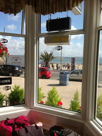 Bay View Hotel Weymouth: View from the lounge.
