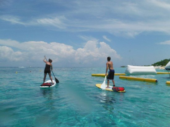Ha Haak Paddleboarding Cozumel : even the old lady (me) can do it!