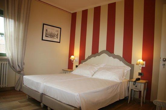 Hotel Dei Conti: Vista di una camera (tutte con aria condizionata, TV, frigo bar, WiFi gratuito)
