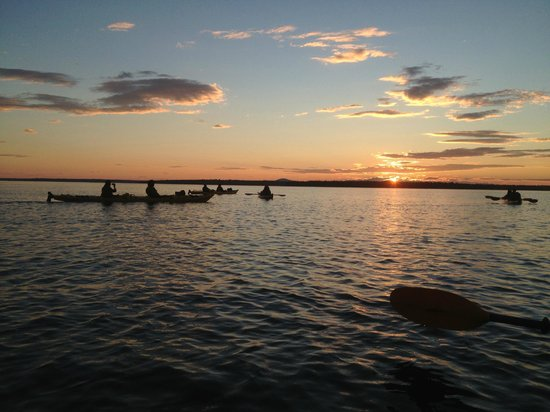 National Park Sea Kayak Tours : Peaceful end to our ride, silently sitting in the water watching the sunset ...