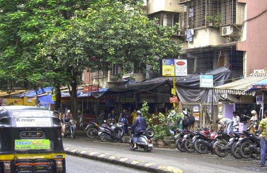 Shops along a side street near the Leela Mumbai - typical of the outside environment