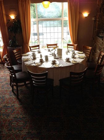 The Dartmoor Lodge: A table for a group in the restaurant