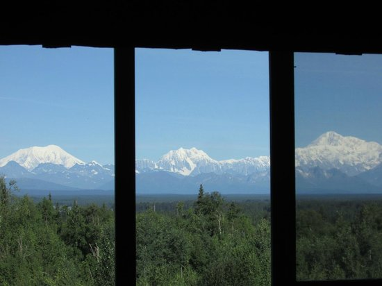 Talkeetna Alaskan Lodge : The view of Mt. McKinley from our room
