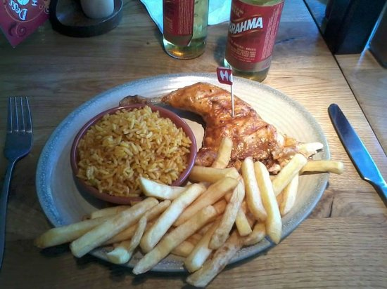 Nando's - Chatham: 1/4 Chicken with Spice Rice and Chips