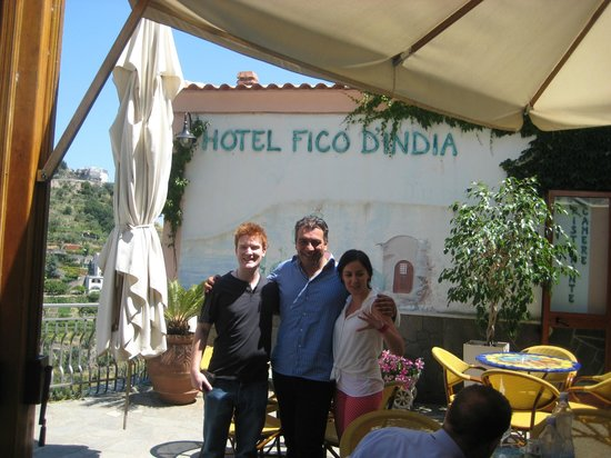 Holidays Fico d'India: Us with Pino