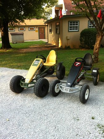 Sweetwater / I-75 / Exit 62 KOA: pedal-powered carts for rent.  $3/hr