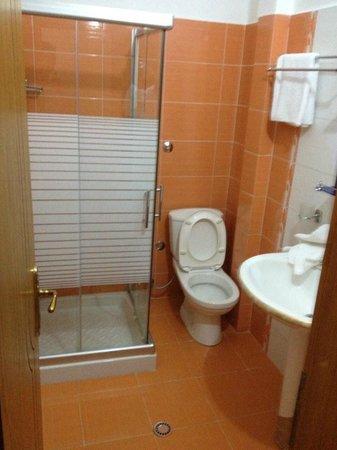 Hotel Vila e Arte: Clean bathroom with a powerful hair dryer