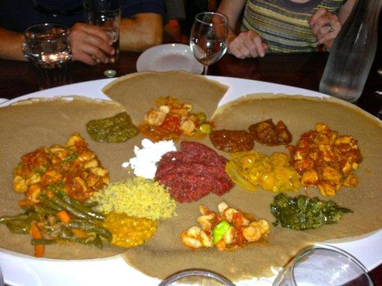 Mesob Ethiopian Restaurant: Great for sharing