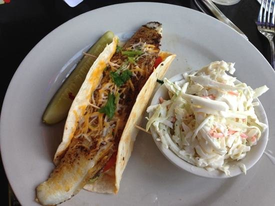 Riverside Cafe: baha taco with flounder