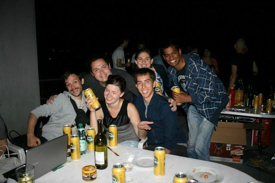 Hostel Marmota: And the other barbeque party with the guests :)