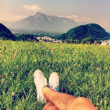 Schöne Aussicht: View from the hill