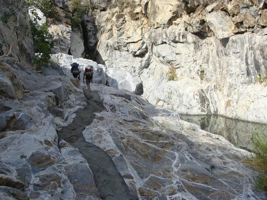 Baja Sierra Adventures- Day Tours: Canyon de Aguas calientes day1 going upstream
