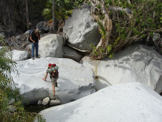 Baja Sierra Adventures- Day Tours: Canyon de Aguas calientes day 1 going upstream