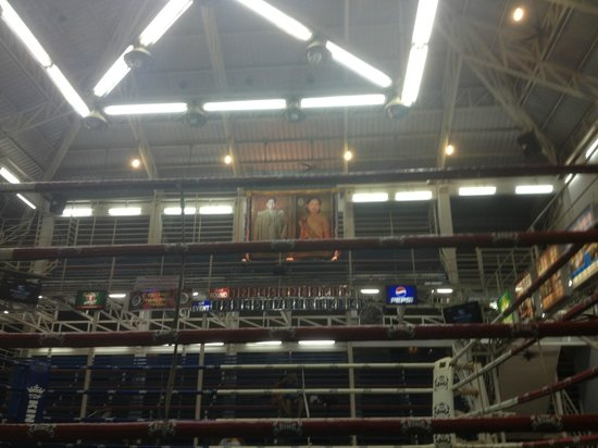 Patong Boxing Stadium : view from vip seat looking up