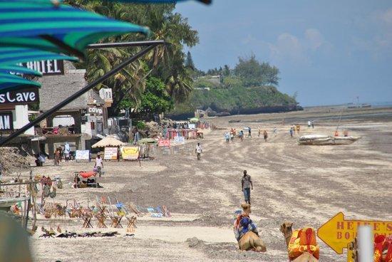 Bamburi Beach : Widok na plażę Bamburi/