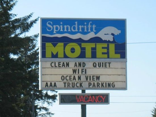 Spindrift Motor Inn: Sign to look for