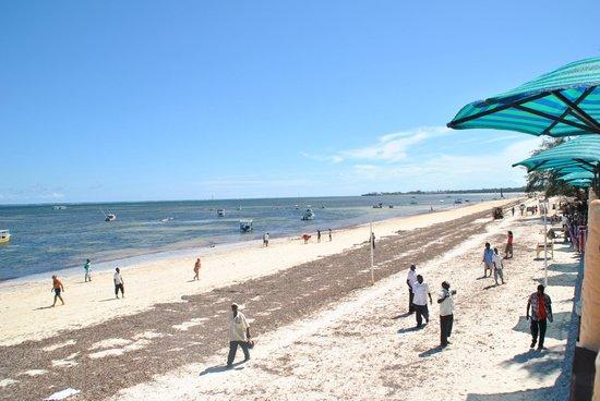Bamburi Beach : Widok na plażę Bamburi